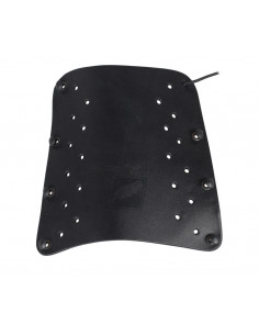 White Feather arm guard Lightning Leather Black
