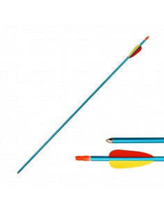 Archery arrow 29 inches (74cm), aluminum, blue