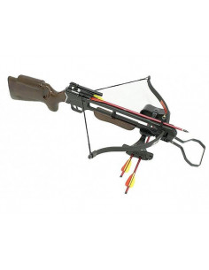 Pack 150-pound crossbow with pre-assembled rope + quiver