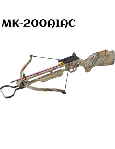 Crossbow 150 pounds of camouflage with a pre-strung rope