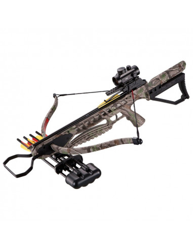 Crossbow MK-XB21 175 Lbs camouflage + red-dot + quiver