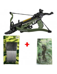 Pack Arbalète 80 lbs Cobra Alligator + corde + flèches zombie