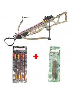Pack Arbalète 120 lbs camouflage + corde + flèches métal