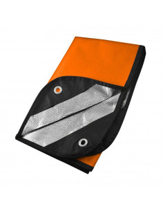 Orange survival blanket