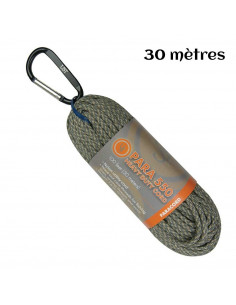 Paracord hank 550 30m green camouflage