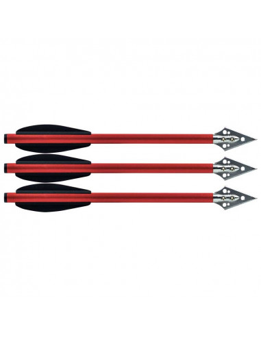 3 arrows 6.5 inches for pistol crossbows with broadheads