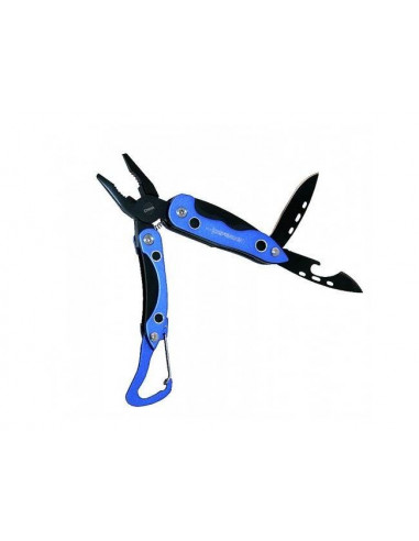Clip 3 inch blue blade and multifunction with belt clip