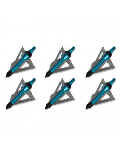 6 broadheads 100gr 3 blades for bows and crossbows