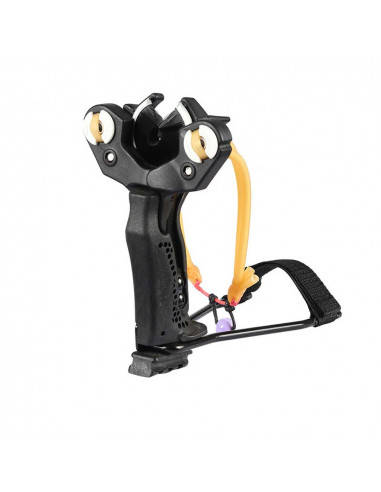 Slingshot with whisker to shoot arrows