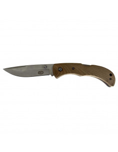 Folding knife with real...