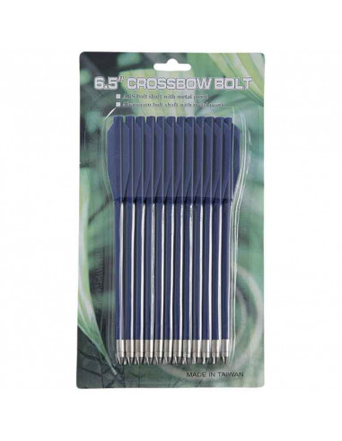 12 blue plastic arrows for crossbow...