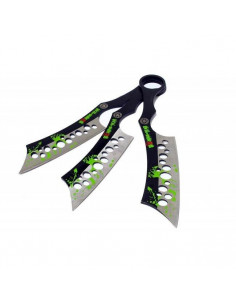 3 Throwing Knives Zombie 19cm Hatchet Shaped
