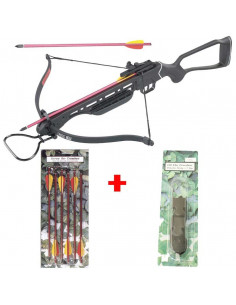 Pack Crossbow 150 lbs Metal + 6 arrows 14 inches + string