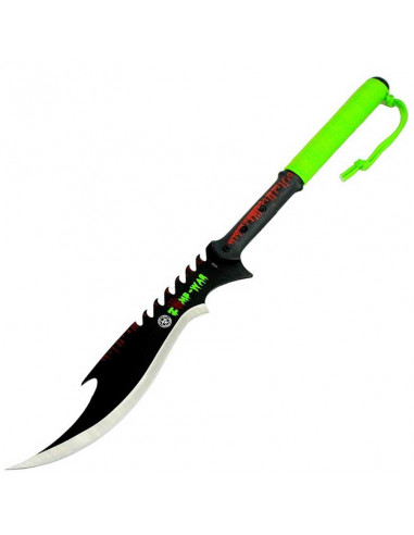 Machette Sword Zombie War 27.5 inches (70cm) with rope handle and case